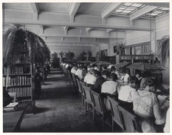 Milwaukee Normal School library, housed from 1909 to 1954 in Old Main (now UWM's Mitchell Hall)