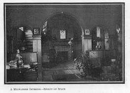 Buell living room and parlor, House Beautiful (February 1900)