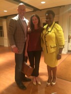 David Effertz, Tiffany Tinsey and Thelma Sias at HWTN's June 1 meeting